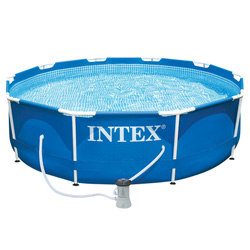 Lovely Intex Piscine Frame Pool Diamètre 3,05 M