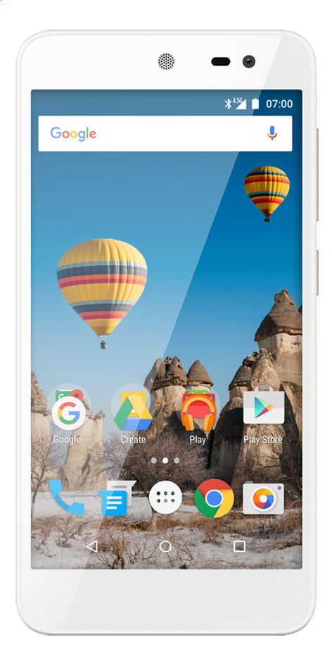 General Mobile smartphone GM5 Android One blanc