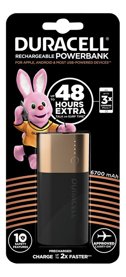 Duracell powerbank 6700 mAh